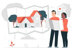 couple applying for a debt consolidation loan in Singapore for a property
